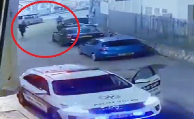 נמלט בדיר אל אסד (צילום: מתוך מצלמות אבטחה)