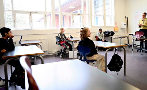 כיתות הלימוד בדנמרק (צילום: CNN)