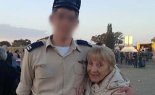 """הטייס שטס מעל בית סבתו ניצולת השואה (צילום: מתוך """"חדשות הבוקר"""" , קשת 12)"""