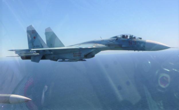 תקרית אווירית חריגה (צילום: חיל האוויר הבלגי, Twitter)