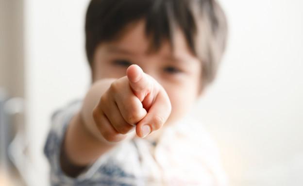 ילד מצביע  (צילום: צילום מסך מתוך ווטסאפ)