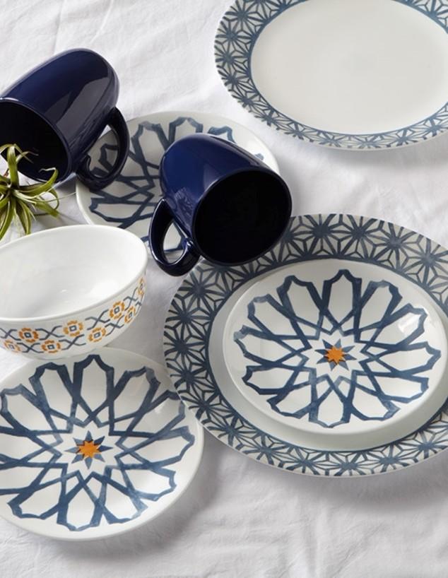 מחיר סט צלחות החל מ792 שח להשיג בשקל בית מותגים Amalfi azul צלחות