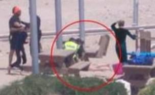 מעצר בחוף בית ינאי (צילום: איתמר רוז)