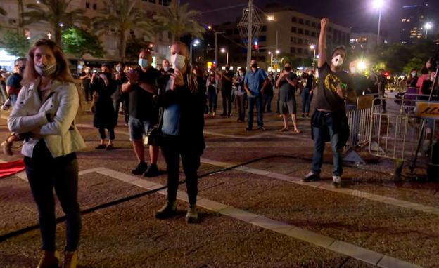 מחאת האומנים בכיכר רבין