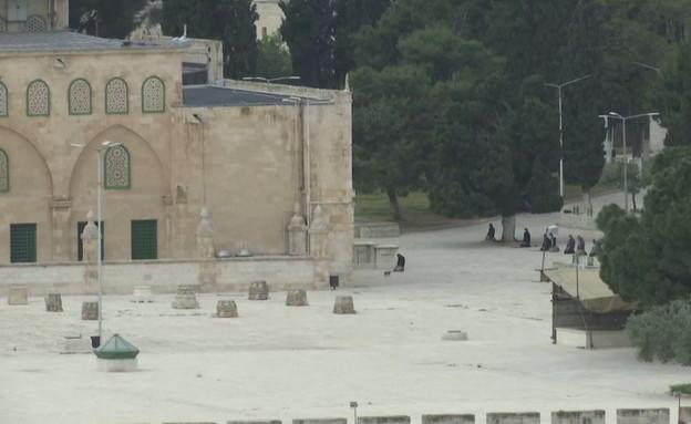 הר הבית ריק ממתפללים ברמדאן