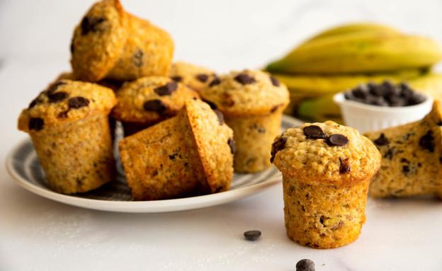 מאפינס בננה וקוואקר  (צילום: שרית נובק - מיס פטל, אוכל טוב)