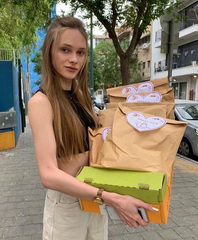 סתו שטרסקו והחבר מתנדבים, אפריל 2020