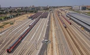 מתחם הרכבות העומדות בבאר שבע (צילום: אמנון זיו, רכבת ישראל)