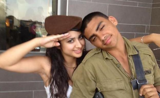 טל יפרח ז''ל עם אחותו נוי (צילום: אלבום משפחתי)