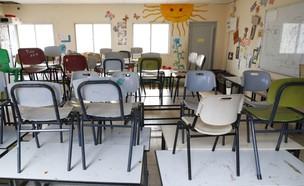 קורונה, בית ספר, נתניה (צילום: JACK GUEZ, AFP)