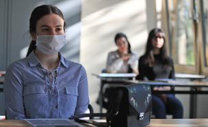 תלמידה קורונה גרמניה בית ספר (צילום: רויטרס)