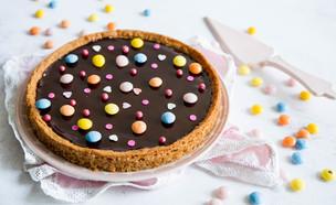 פיצה שוקולד עם בצק חמאת בוטנים (צילום: שרית נובק - מיס פטל, אוכל טוב)