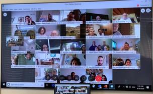"""שיחת וידאו באמצעות אפליקצית WEBEX מבית סיסקו (צילום: יח""""צ סיסקו)"""