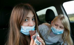 ילדים  עם מסכות (צילום: חן ליאופולד, פלאש 90)