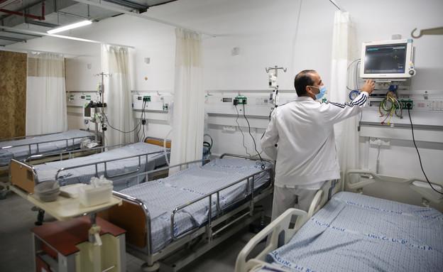מחלקת הקורונה בית חולים זיו (צילום: David CohenFlash90)