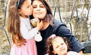 רג'אא בשאראת ובנותיה (צילום: באדיבות המצולמת)