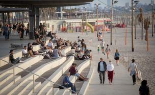 טיילת תל אביב בסוף השבוע האחרון (צילום: מרים אלסטר, פלאש 90)