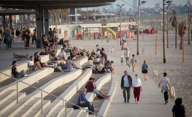 Tel Aviv Promenade last weekend (Photo: Miriam Elster, Flash 90)
