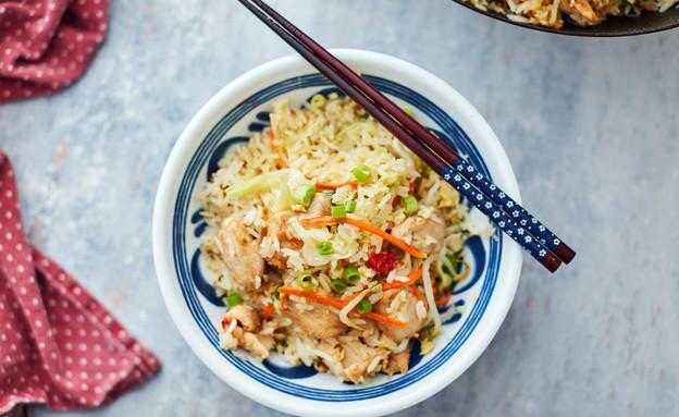אורז מוקפץ עם עוף וירקות (צילום: אמיר מנחם, אוכל טוב)