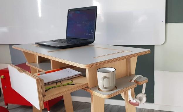 עמדת עבודה ביתית (צילום: סטודיו סגול)