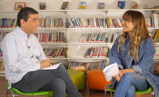 פרופסור ברבש עונה על שאלות של ילדים (צילום: N12)
