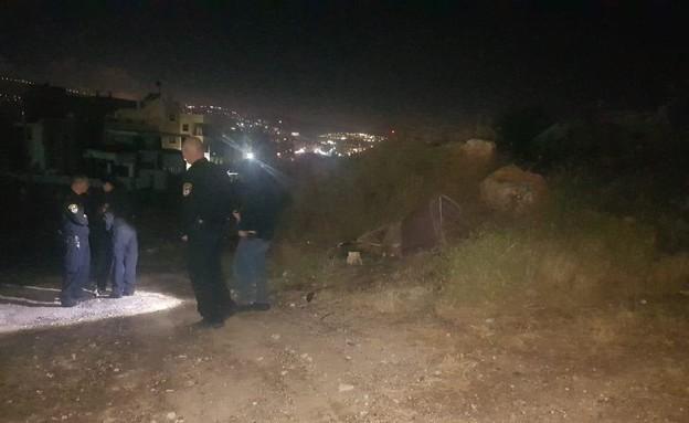 סריקות לאיתור חשודים בעקבות הירי בטורעאן (צילום: משטרת ישראל)