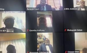 גזר דין מוות באמצעות הזום בניגריה (צילום: TransparencIT Nigeria, twitter)