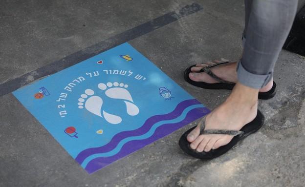 ים כחול תו סגול, חוף הים בתל אביב