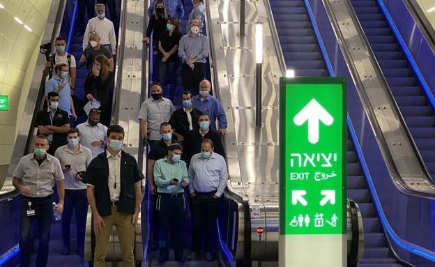 חניכת קו הרכבת בין ירושלים לתל אביב