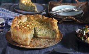 עוגת זוקיני, גבינות וצנוברים (צילום: דניאל לילה , מחלבות גד)