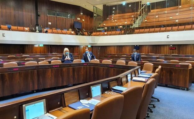 הערכות בכנסת לקראת השבעת הממשלה ה-35 (צילום: דוברות הכנסת)