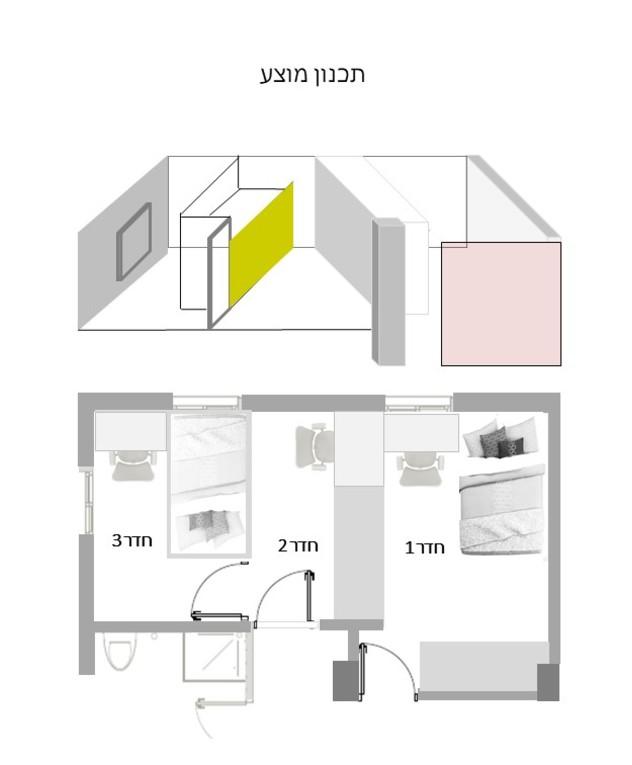 חדר ילדים, ג, עיצוב יפעת מושקוביץ - 13