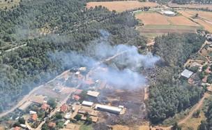 שריפה באזור צרעה