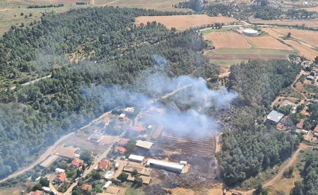 שרפה סמוך לבית שמש