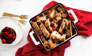 פודינג לחם עם פירות יער (צילום: שרית נובק - מיס פטל, אוכל טוב)