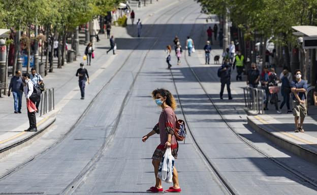 קורונה בישראל - רחוב יפו בירושלים בחמישי האחרון