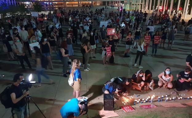 העצרת למען נשים בכיכר הבימה