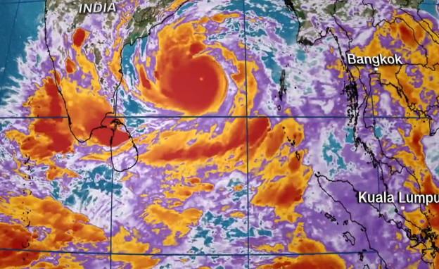 סופר טייפון בדרך להודו (צילום: CNN)