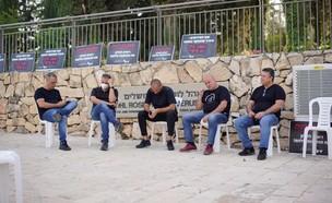 שביתת רעב בעלי האולמות (צילום: פוני מסיקה, N12)