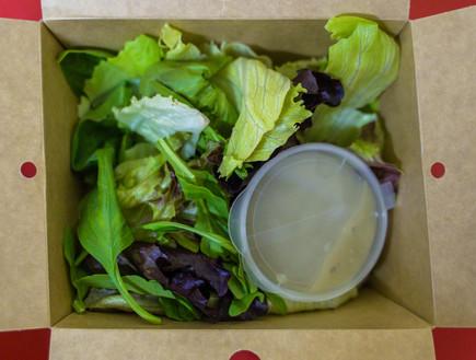 סלט עלים עם ויניגרט גבינה כחולה (צילום: צילום ביתי, אוכל טוב)
