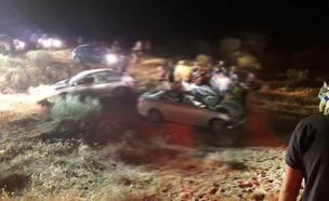 זירת התאונה בדרום שבה נהרג גבר שהתנגש בגמל (צילום: די להפקרות החוק בנגב' דף בפייסבוק)