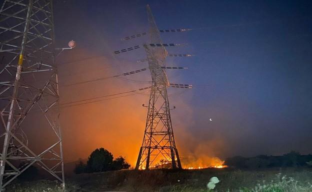השרפה באזור אלעד