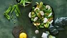 ירוקים עם גבינת עיזים- משק צוריאל (צילום: אנטולי מיכאלו)