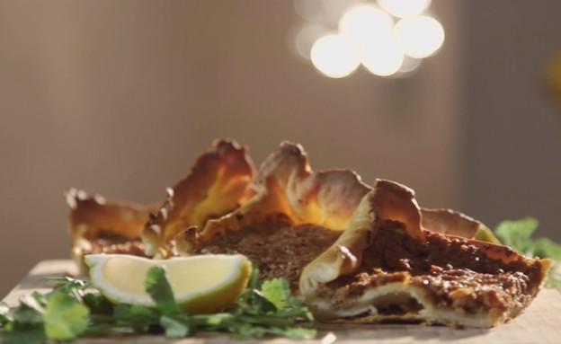 לחמעג'ון (צילום: מתוך אמהות מבשלות ביחד, ערוץ 24 החדש)