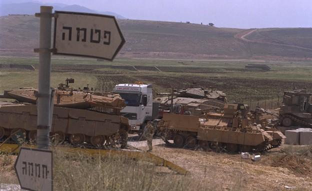 שלטי הכוונה למוצבים ברצועת הביטחון בלבנון