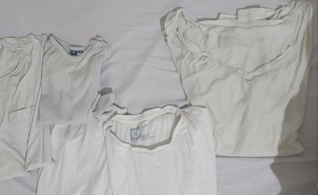 כביסה לבנה תוצאה עם אבקת אפייה (צילום: ענת סימן טוב)