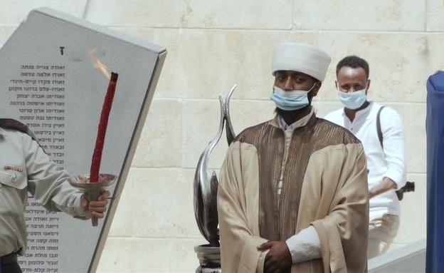 טקס לזכרם של יהודי אתיופיה שנספו בדרכם לישראל (צילום: N12)