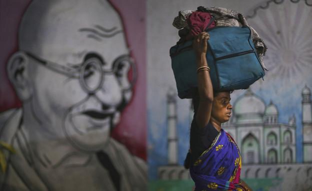 הודו קורונה (צילום: AP)