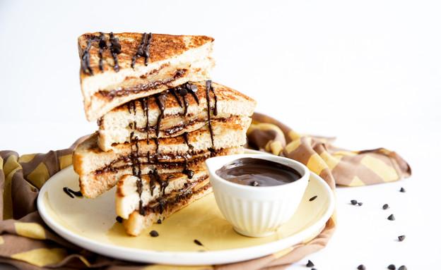 פרנץ' טוסט שוקולד בננה  (צילום: שרית נובק - מיס פטל, אוכל טוב)