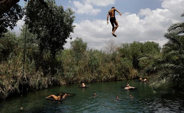 עין הנציב (צילום: MENAHEM KAHANA - AFP)